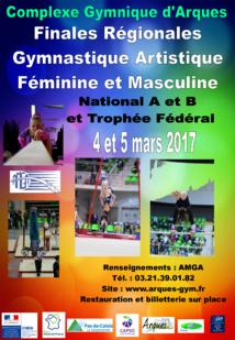 Finales Régionales de Gymnastique Artistique Féminine et Masculine par équipe les 4-5 mars 2017