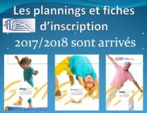 Planning AMGA 2017/2018: Reprise des cours dès le lundi 4 septembre 2017
