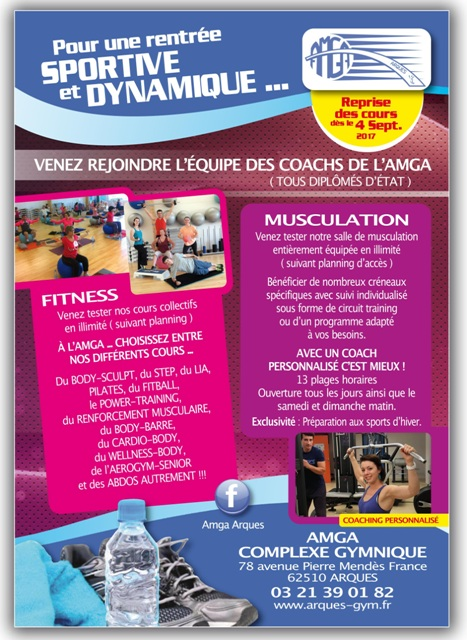 Cours de Fitness et de Musculation à l'AMGA