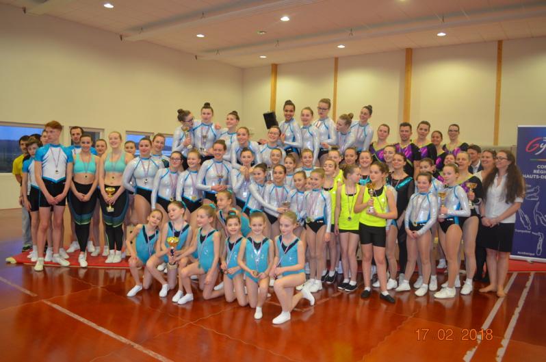 Compétition interdépartementale Gymnastique Aérobic à Arques