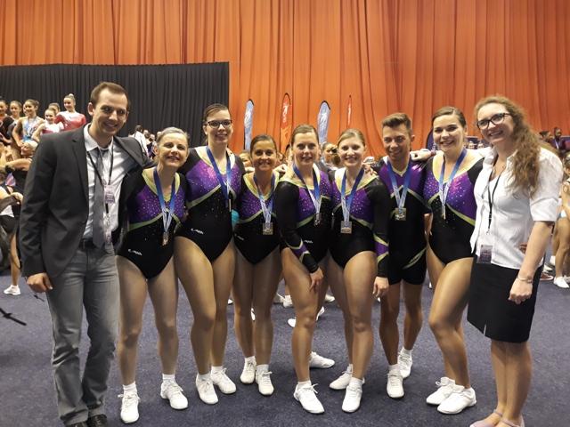 Clermont Ferrand 2018 : 20ème participation au championnat de France pour la Gymnastique Aérobic.