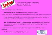 AMGA: Informations et dates à retenir