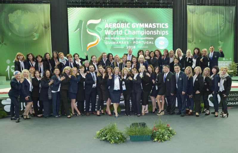 Une juge de l'AMGA au championnat du monde de Gymnastique Aérobic