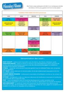 Planning Fitness 2018/2019