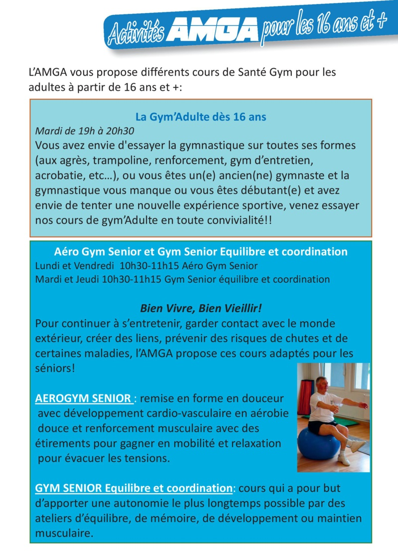Gym Adulte et Gym senior équilibre et coordination