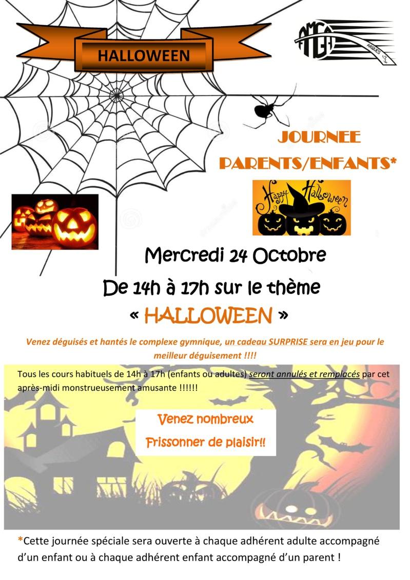 """Journée Parents/Enfants spéciale """"Halloween"""" Mercredi 24 octobre 2018 de 14h à 17h"""