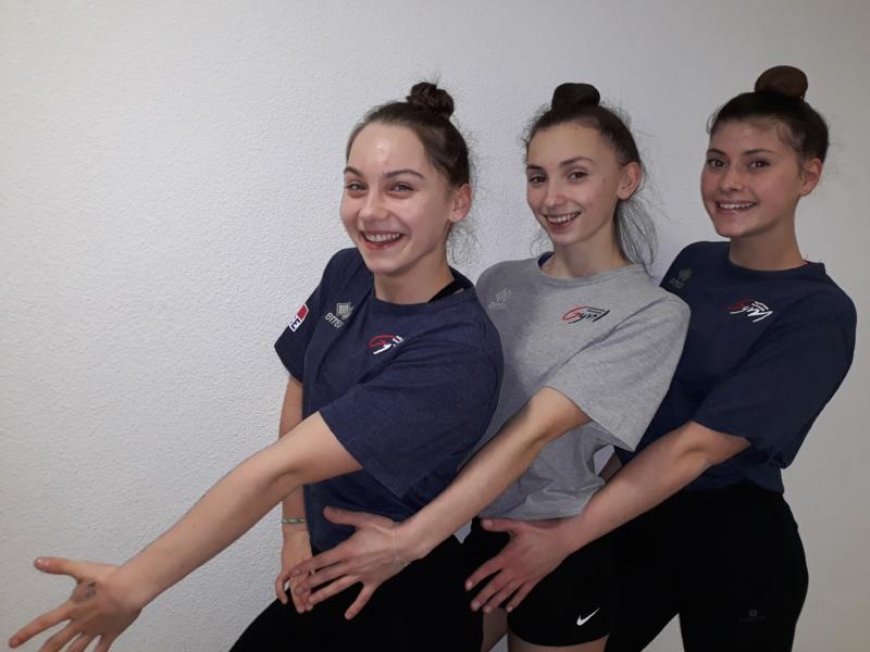 Gymnastique Aérobic: 3 athlètes de l'AMGA en équipe de France !!