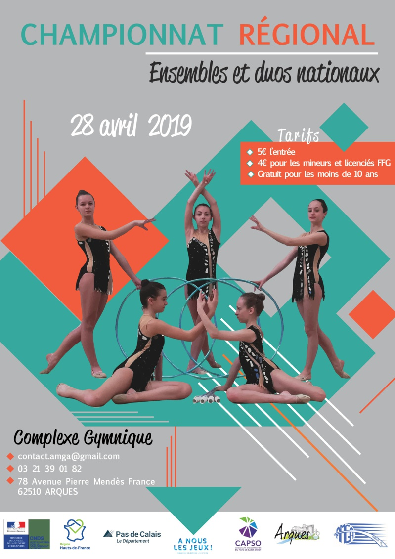 Championnat Régional Ensembles Nationaux et CF4 en GR