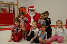 le Père Noël à la baby-gym