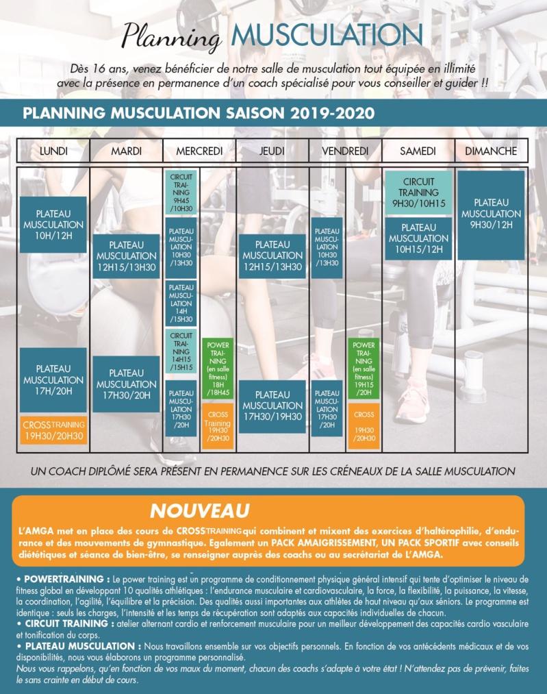 Le nouveau Planning Muscu est arrivé !!!!
