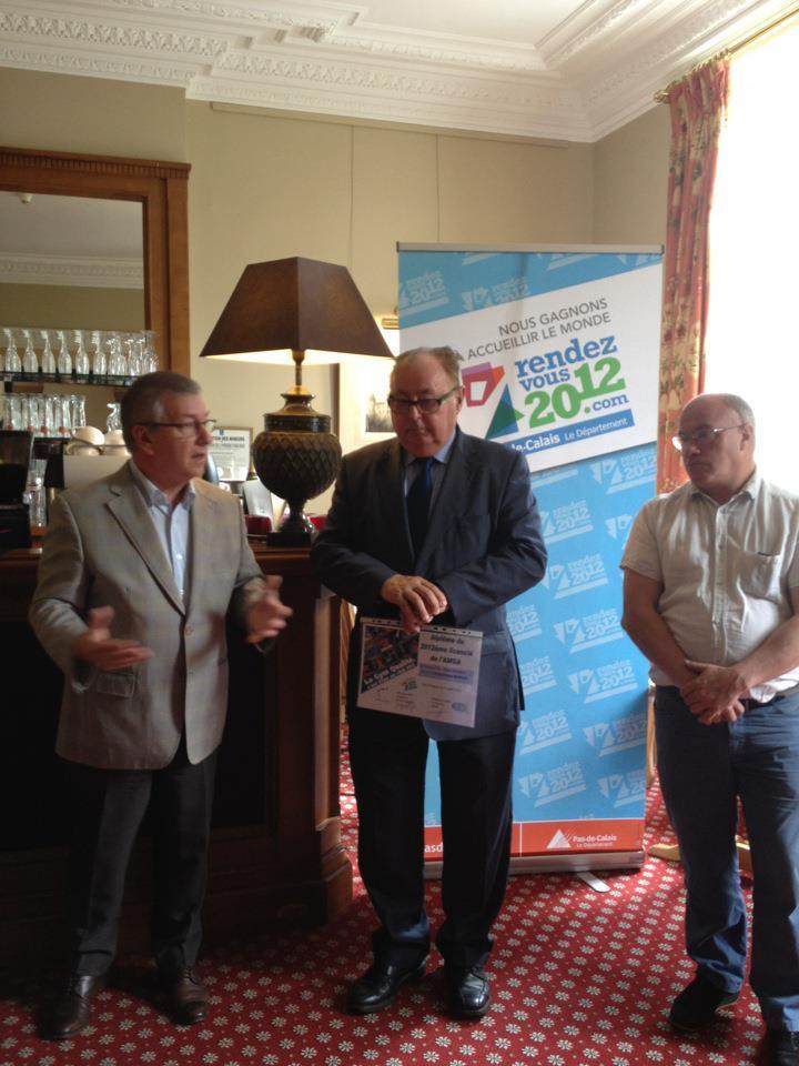 Remise officielle de la 2012ème licence du club de l'AMGA