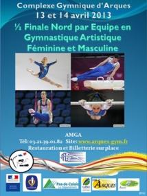 resultats:1/2 Finale Nord des championnats de France par équipe GAF et GAM: 13 et 14 avril 2013