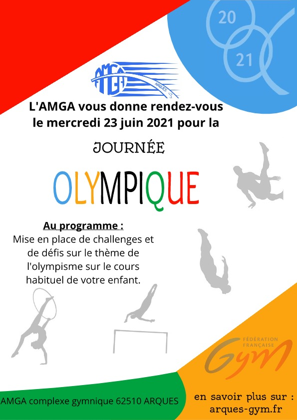AMGA: Journée Olympique le Mercredi 23 juin 2021