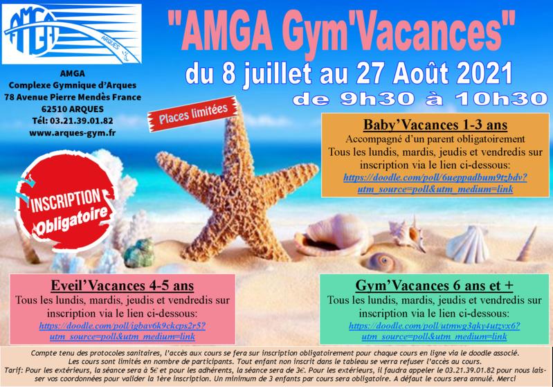 AMGA: le retour de la Gym'Vacances du 8 juillet au 27 août 2021.