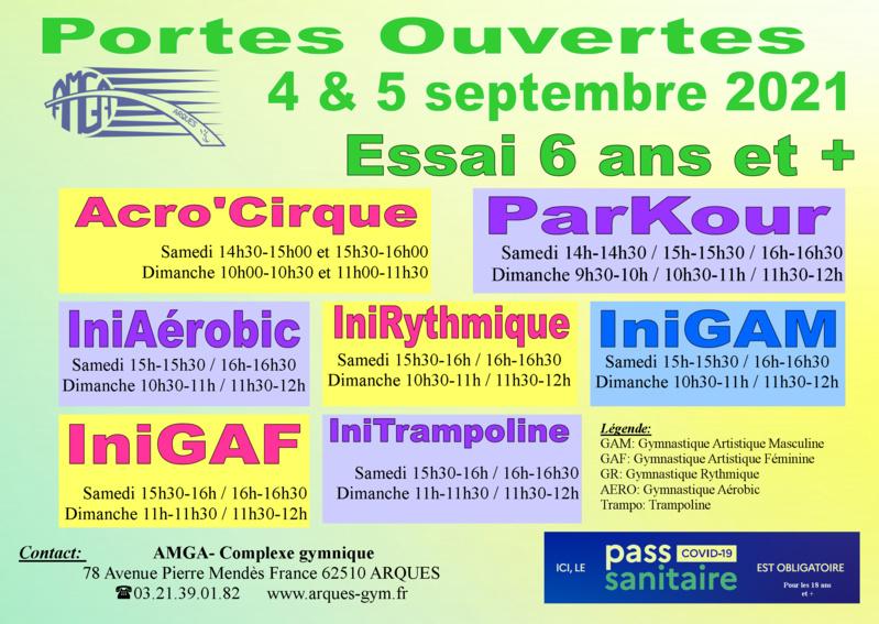 Fête du sport: Portes Ouvertes de l'AMGA les 4 & 5 septembre 2021