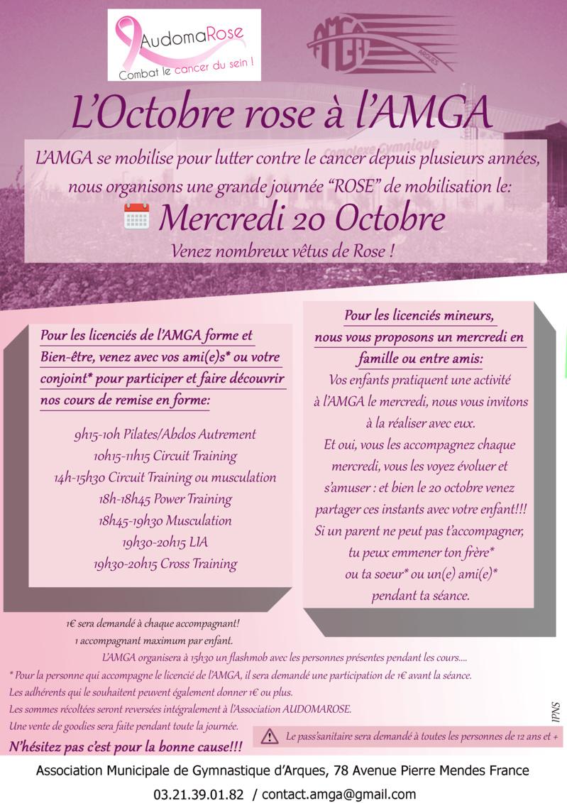 Mercredi 20 Octobre: Journée Rose à l'AMGA pour AUDOMAROSE