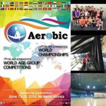 AMGA: Marion BOGNITSCHEFF aux Championnats du Monde d'Aérobic à Incheon en Corée du Sud