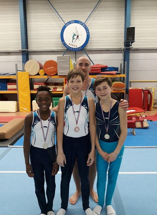 Première compétition de la saison pour la Gymnastique Masculine Arquoise