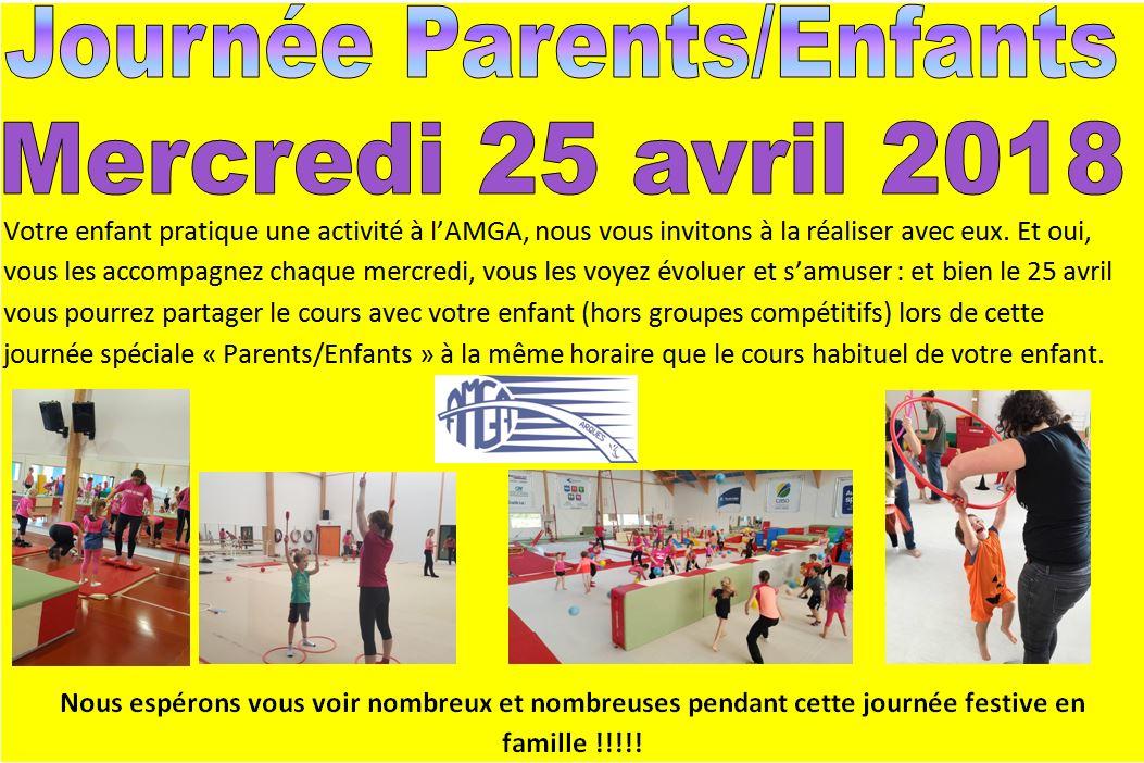 Journée parents/enfants Mercredi  avril 2018