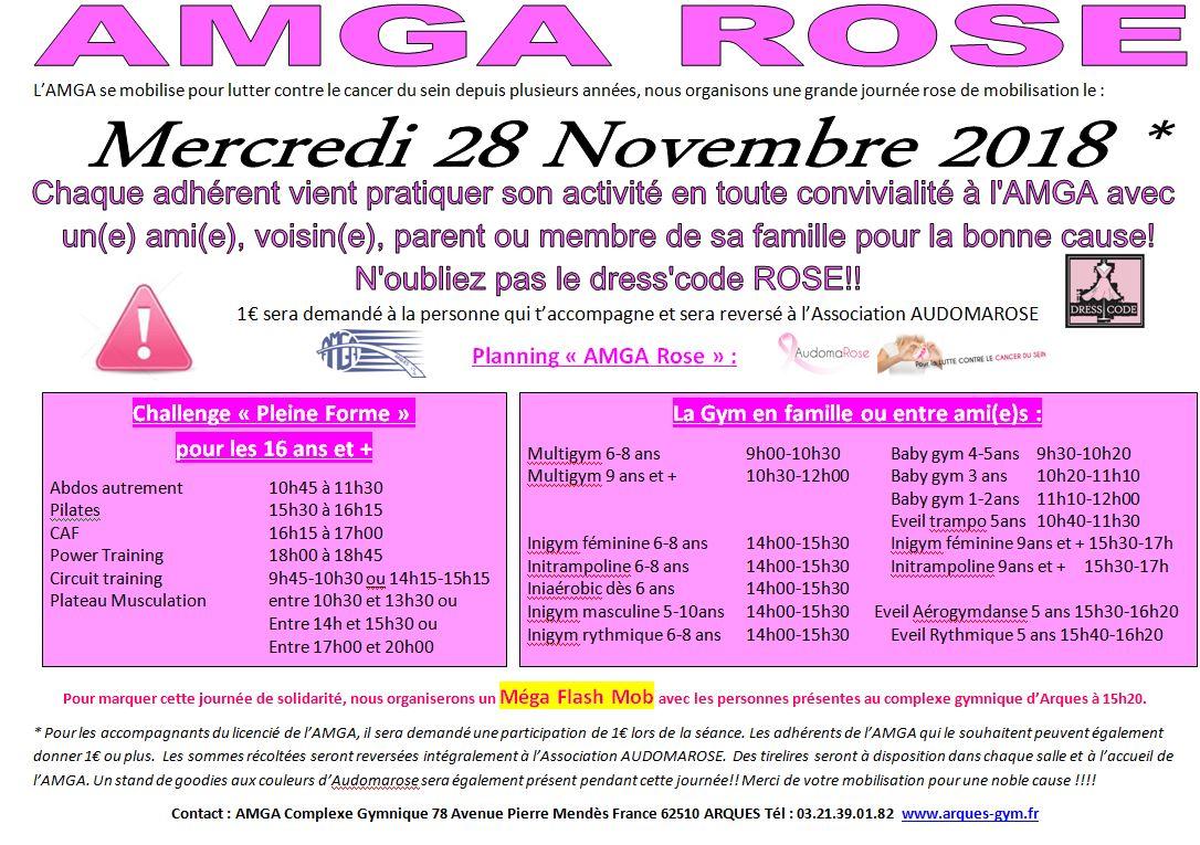 AMGA'Rose le Mercredi 28 novembre 2018