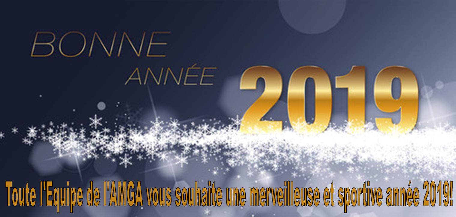 Toute l'équipe de l'AMGA vous souhaite une merveilleuse et sportive année 2019!