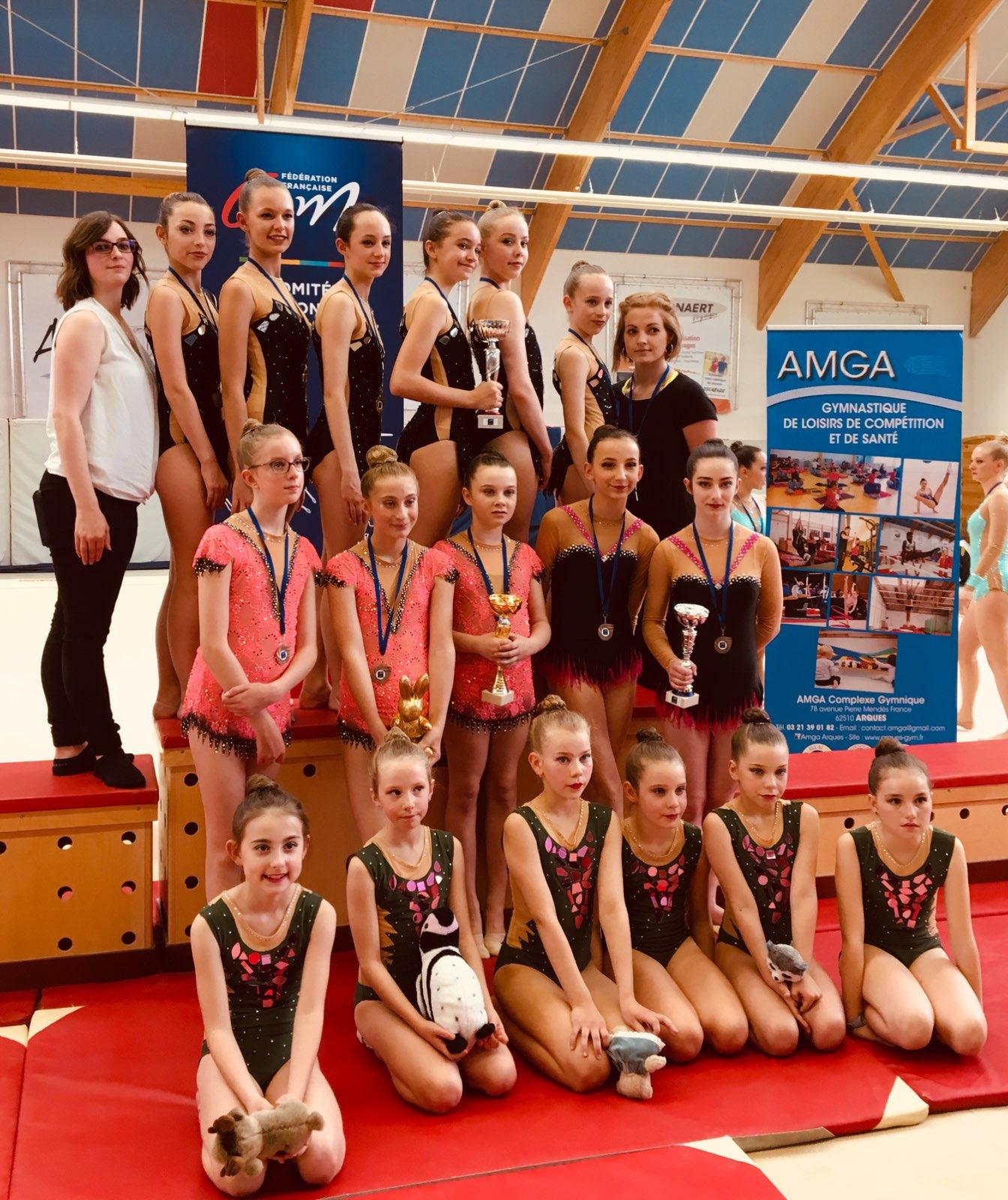 Une qualification pour le championnat de France de Gymnastique Rythmique pour l'AMGA