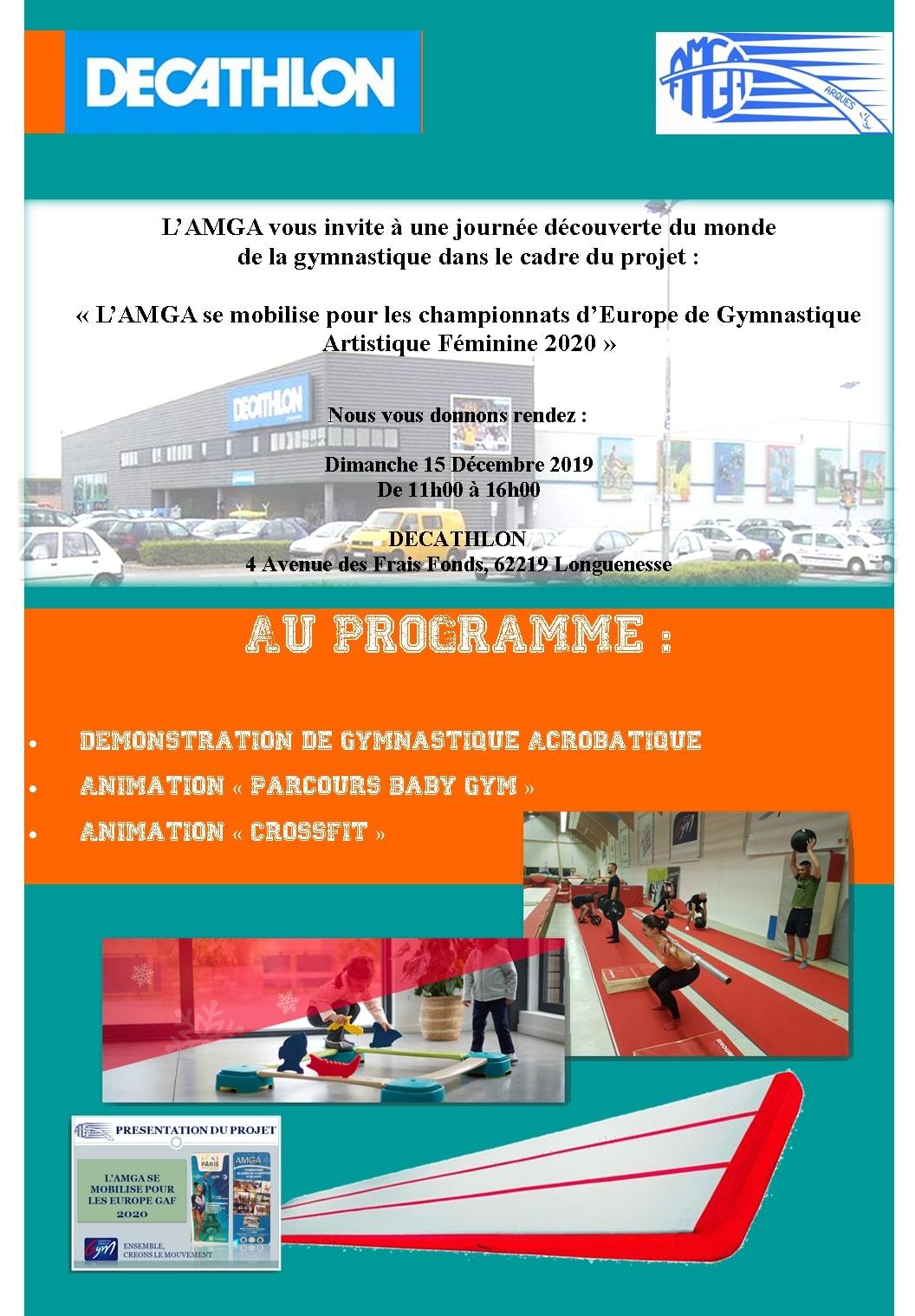 L'AMGA se mobilise pour les Championnats d'Europe de Gymnastique 2020: