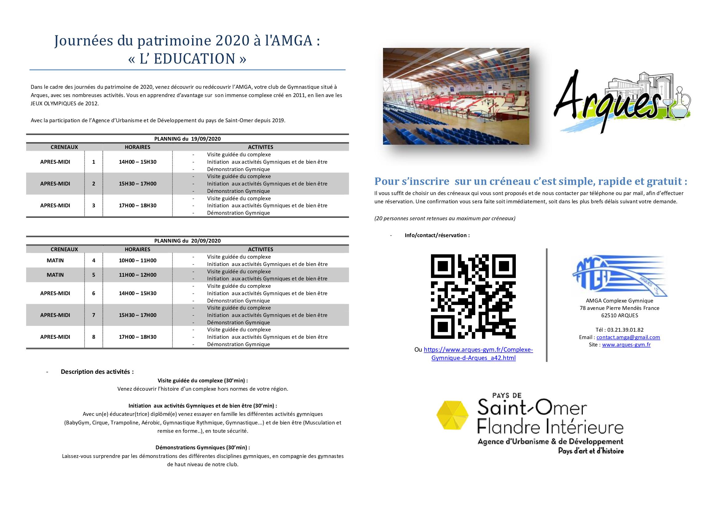 Journées du patrimoine 2020 à l'AMGA
