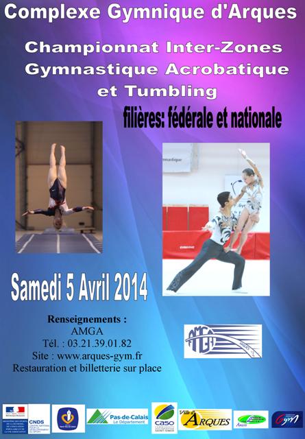Résultats Interzones Gymnastique Acrobatique et Tumbling