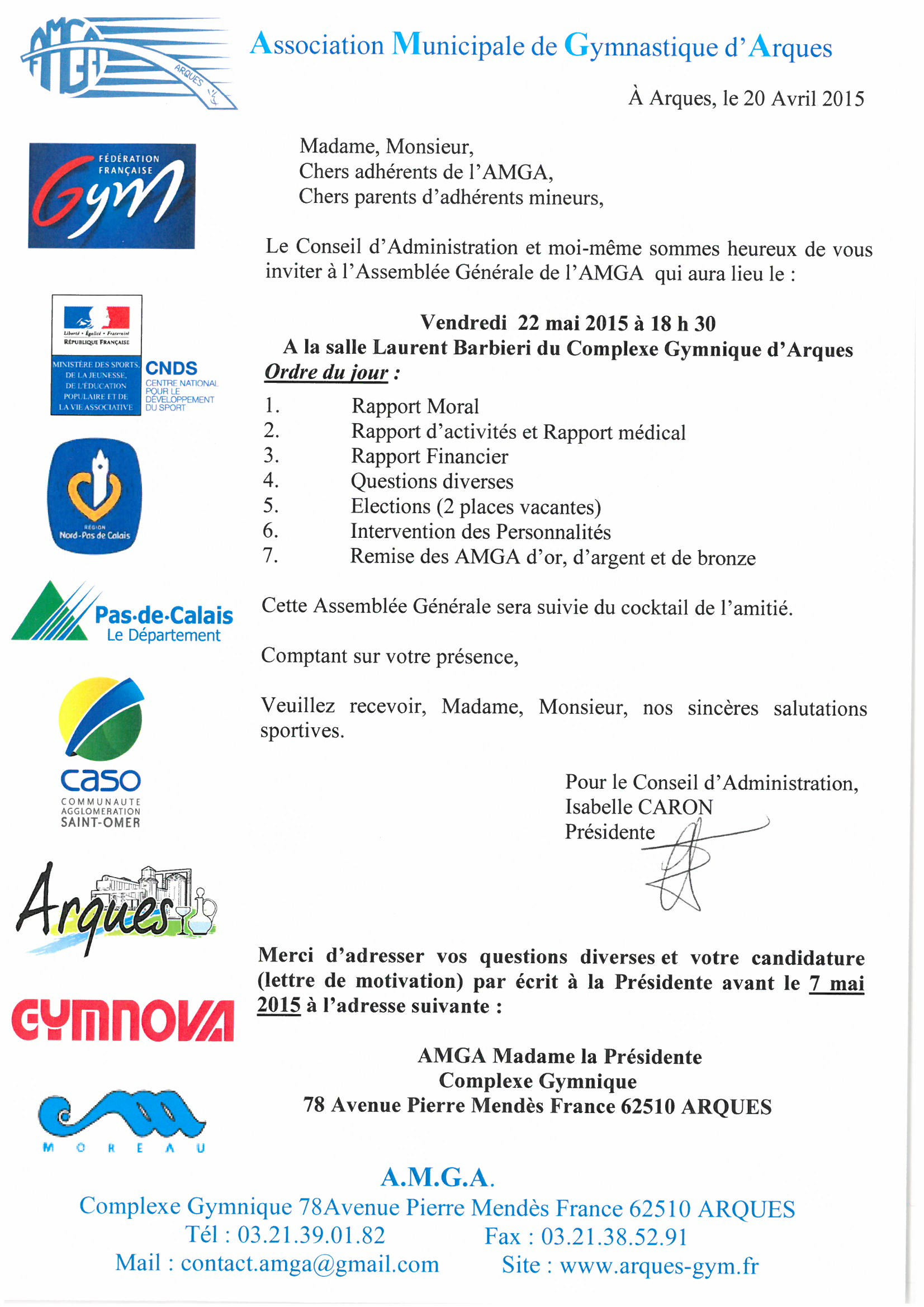 Convocation Assemblée Générale de l'AMGA et appel à candidature
