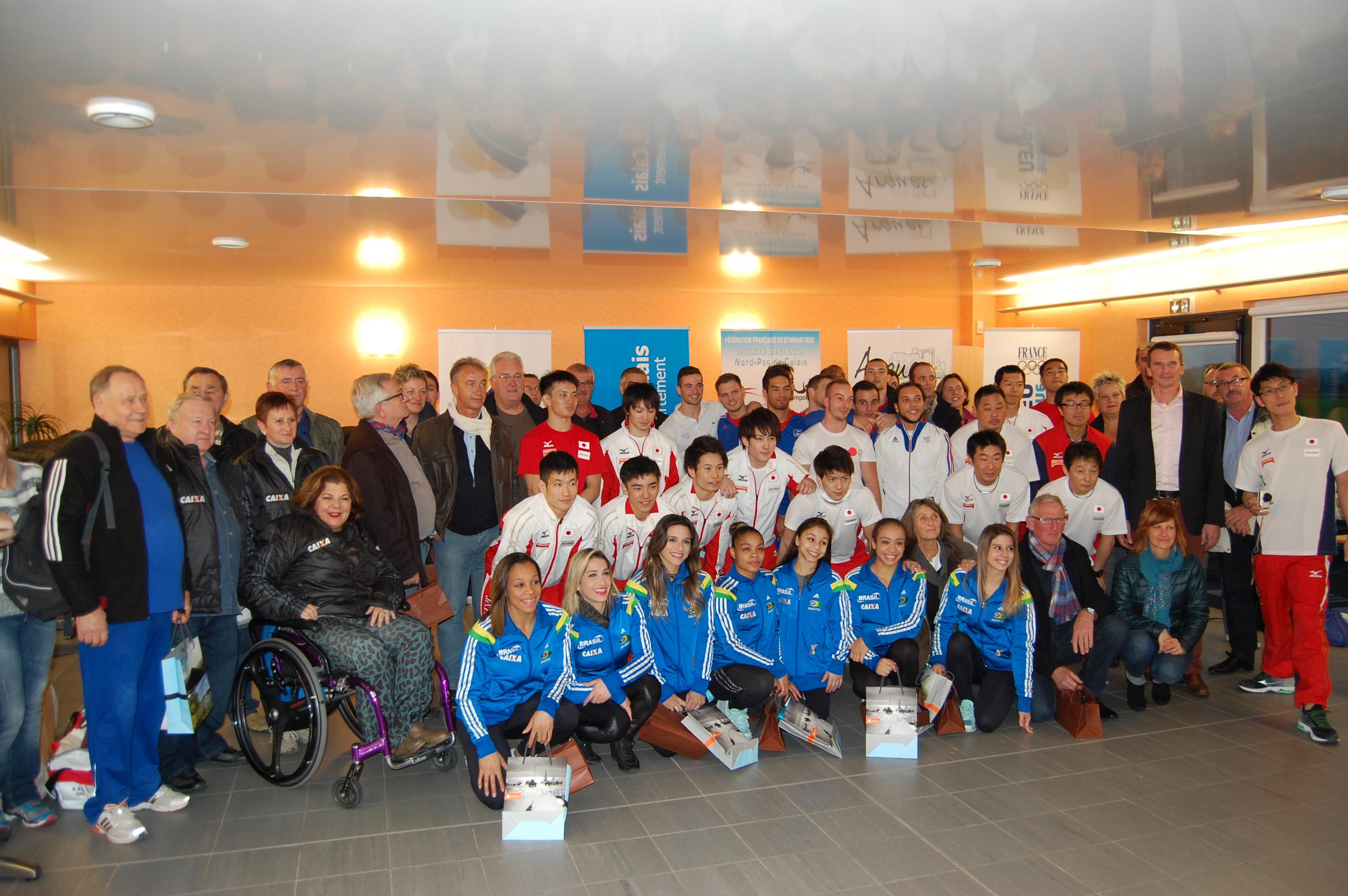 Réception des équipes nationales féminines du Brésil, masculines du Japon et de la France