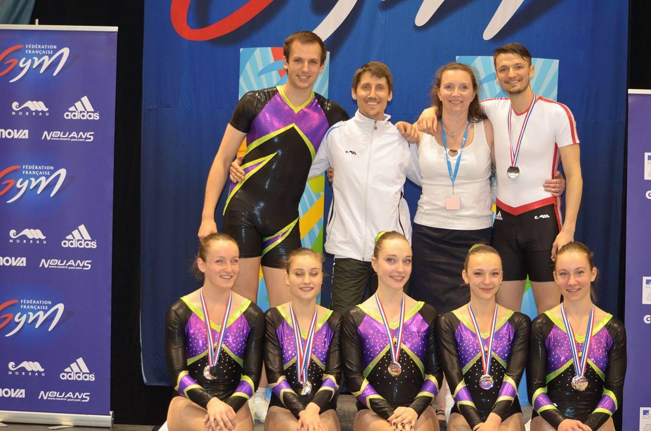 Championnat de france de gymnastique a robic ensemble nous l avons fait - Trampoline clermont ferrand ...