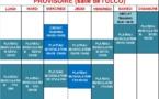 Planning Musculation et plateau 2016/2017