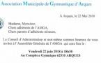 Assemblée Générale de l'AMGA le vendredi 22 juin 2018 à 18h30