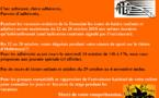 Info Adhérents sur les vacances scolaires de la Toussaint