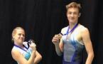 Deux nouvelles médailles nationales pour les trampolinistes Arquois