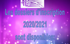 Les dossiers d'inscriptions 2020/2021 sont disponibles: