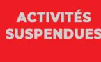 Informations AMGA: Activités gymniques au Complexe Gymnique suspendues